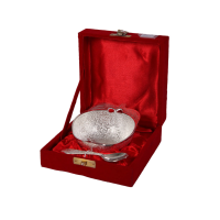 Single german silver apple shaped bowl
