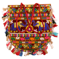 Small Traditional Designer Bag with Detailed Handicraft Work
