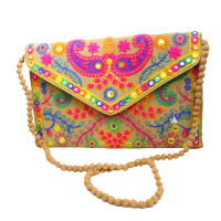 Sober and Trendy Purse With Sling Bag With Excuisite Embroidery Designs