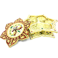 Star shaped gift box with engraved meena work