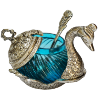 White Metal Duck Shaped Bowl