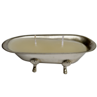 White Metal T-lite in Tub Shape