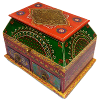Wooden Embossed Two Drawer Box