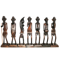 Wooden Made Tribal Decorative Set