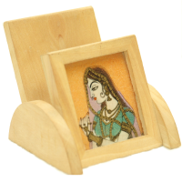 Wooden Mobile Holder with gemstone painting