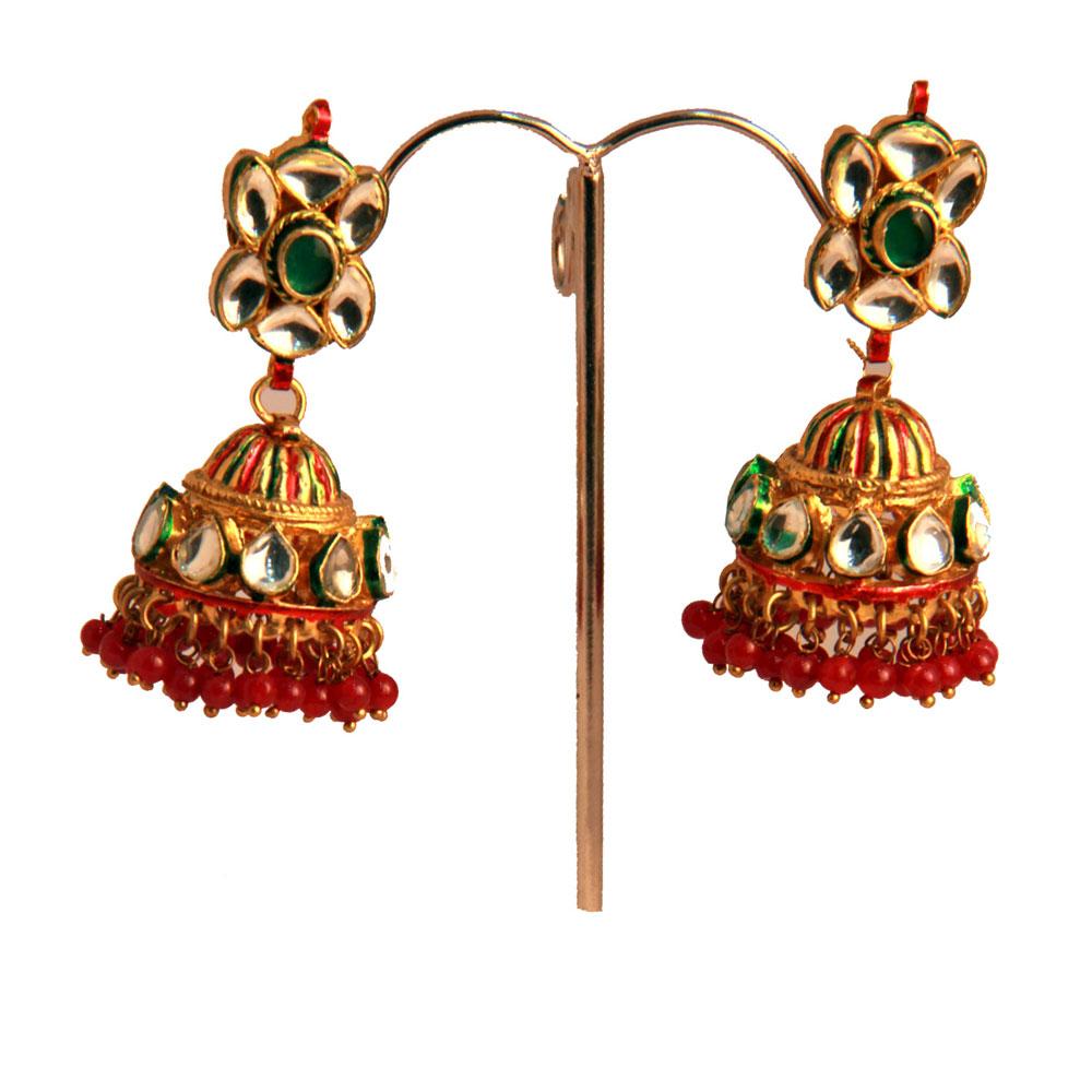 Round shaped designer earrings