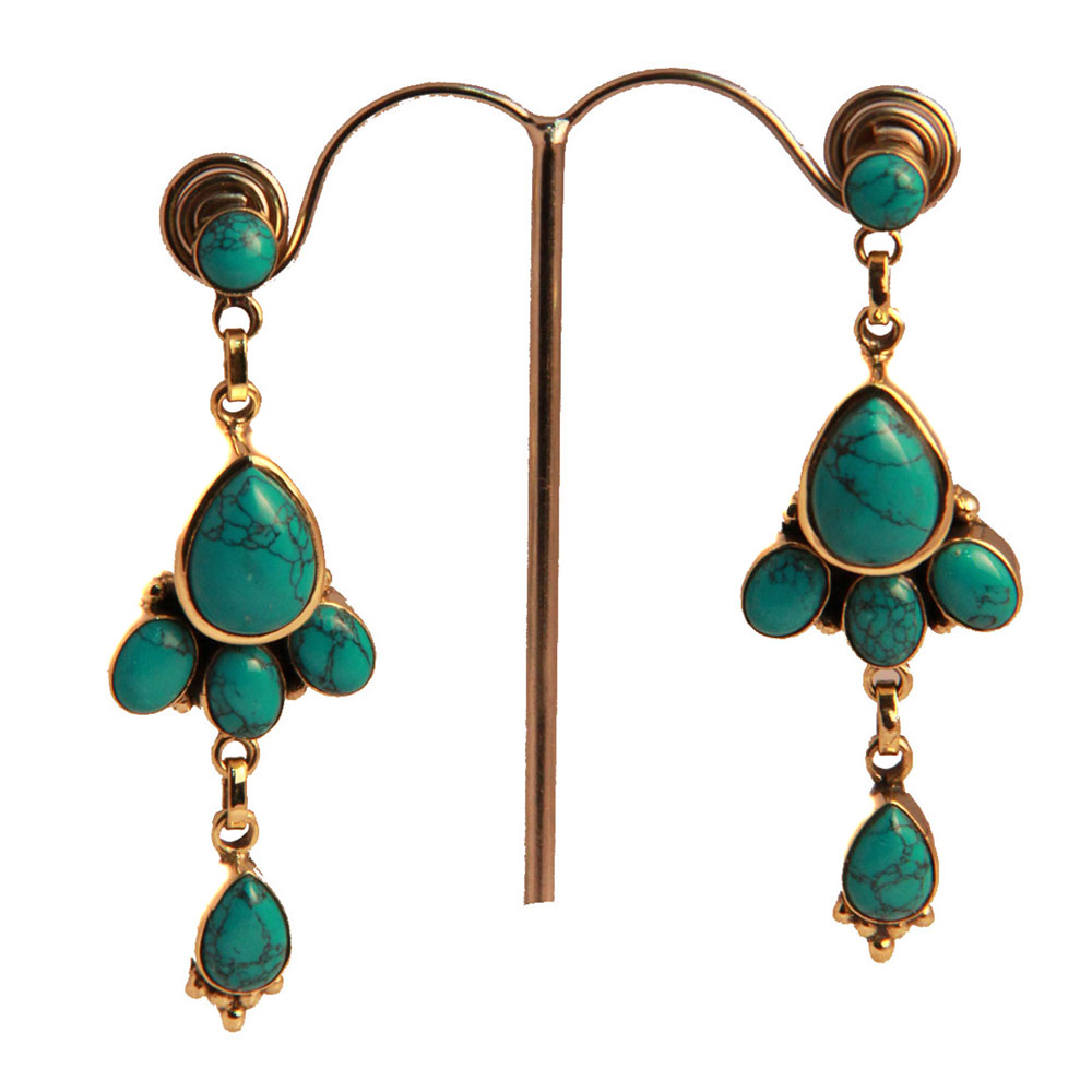 Floral crafted earrings