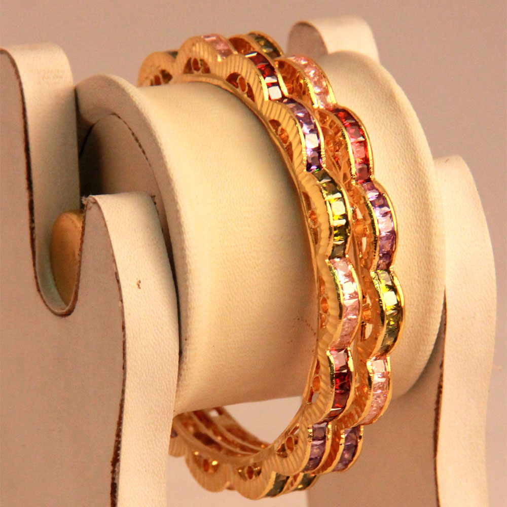 Twisted pair of bangles