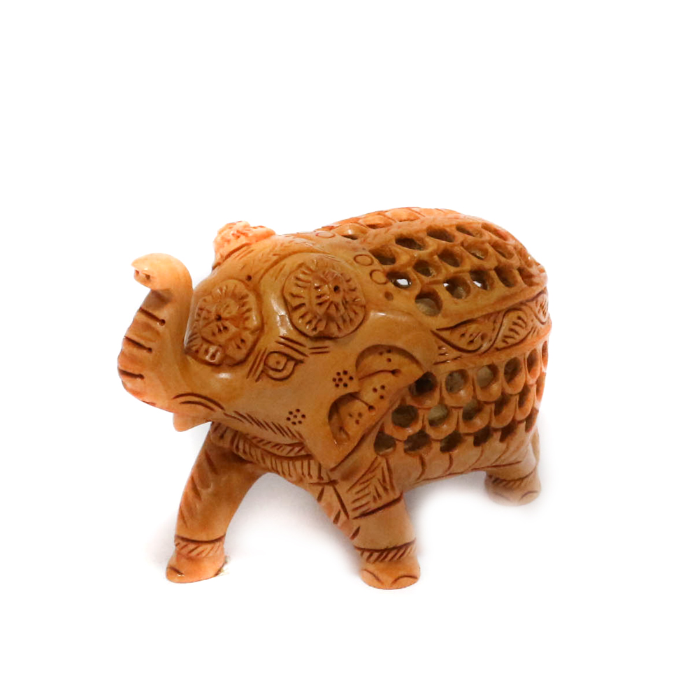 Uniquely carved out wooden Elephant