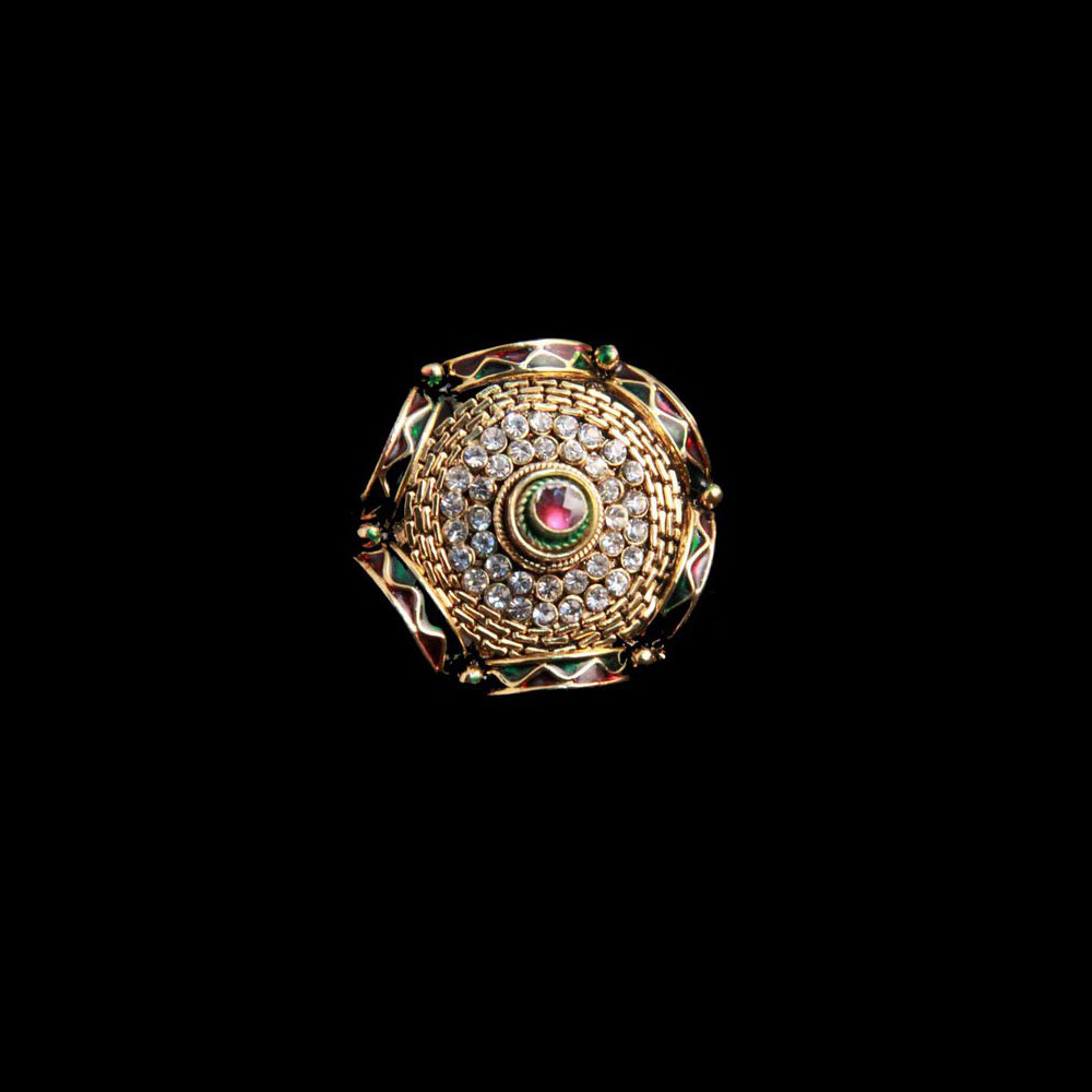 White AD stonned ring