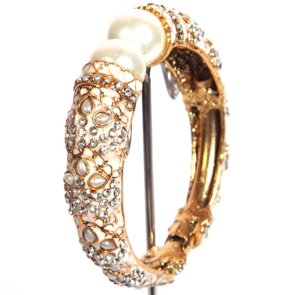 White studded bangles