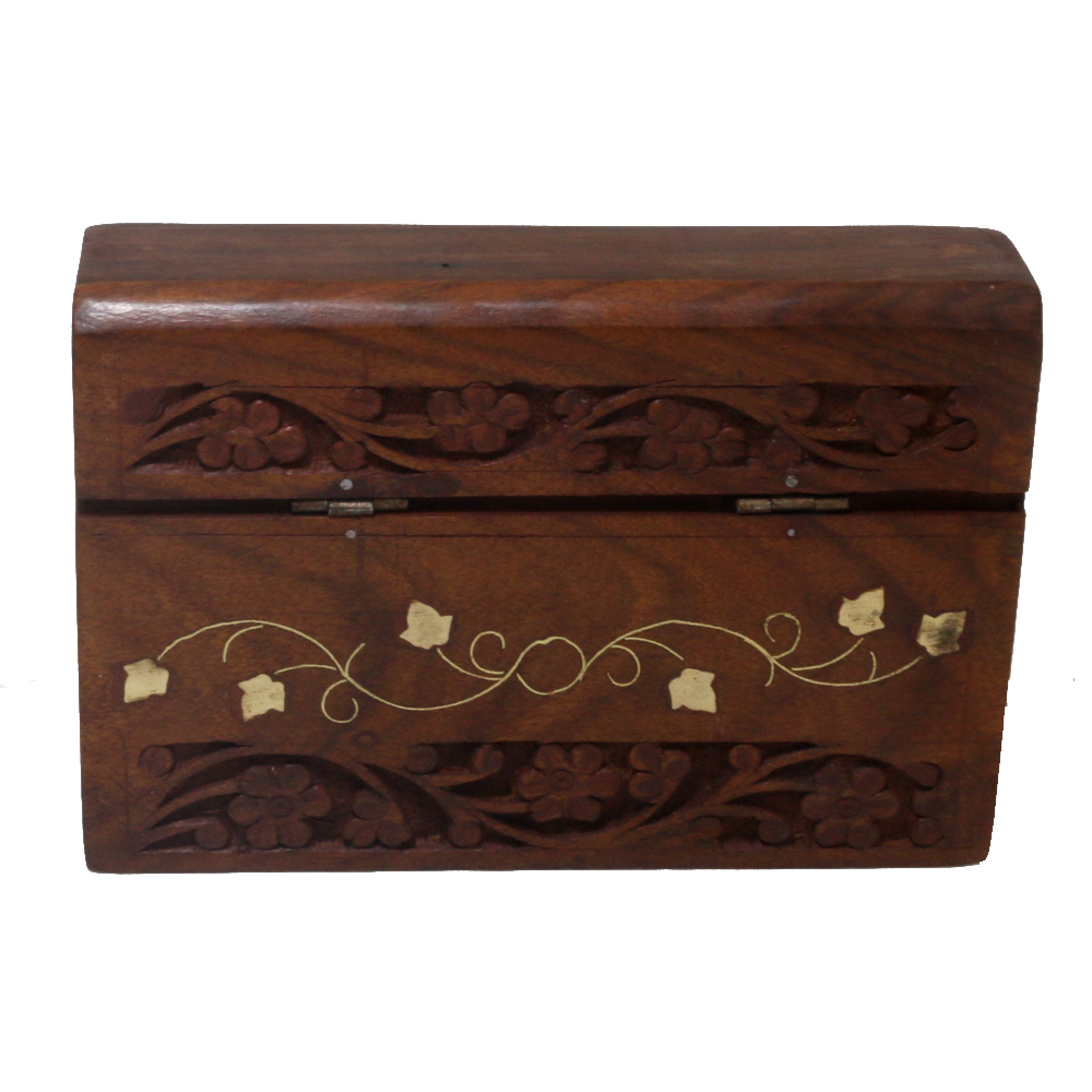 Wooden Box etched with traditional design for domestic use