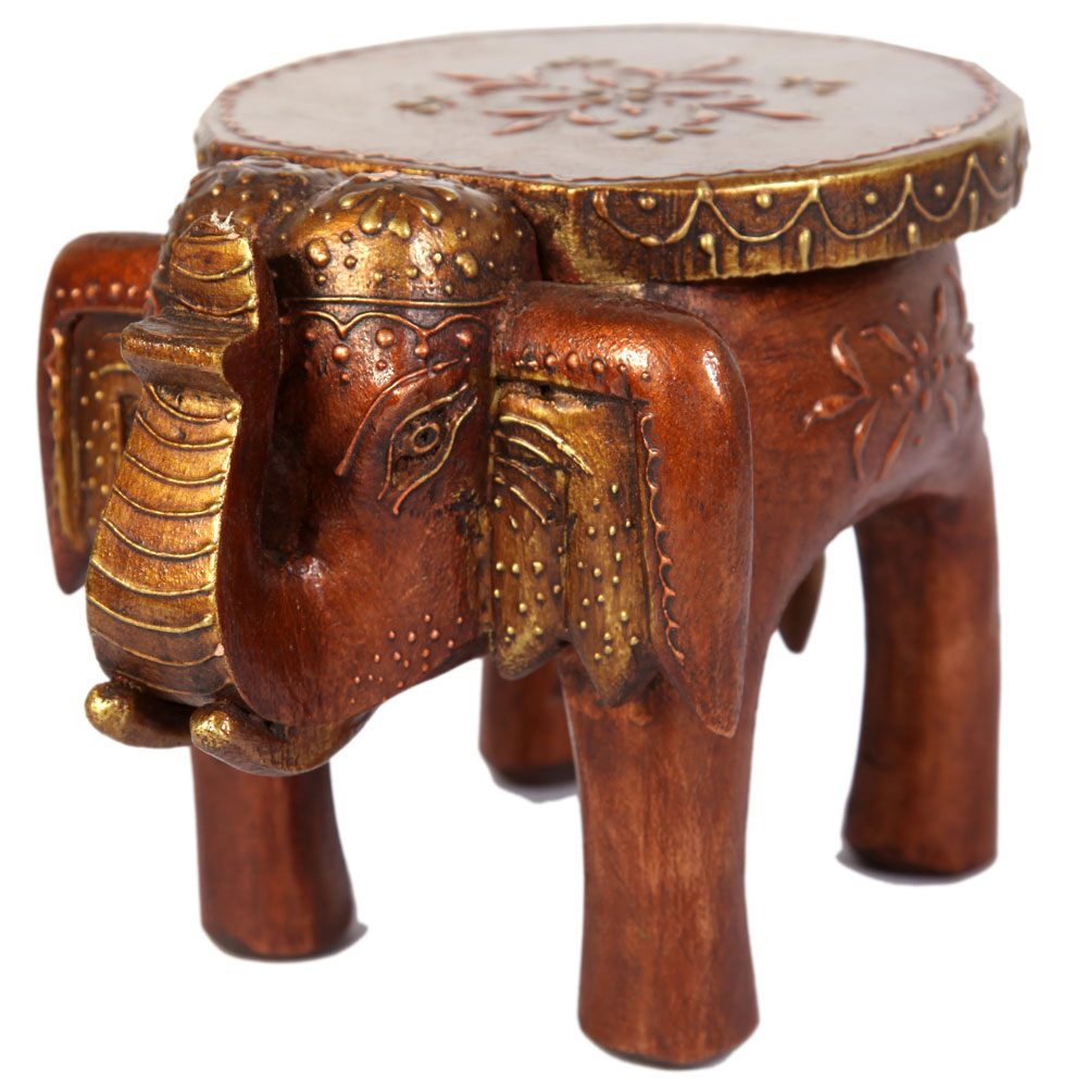 Wooden elephant style seat