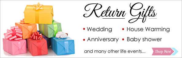 Return Gifts for marriage, anniversary, baby shower, house warming